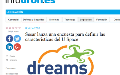 DREAMS survey highlighted by Spanish drone portal INFODRON.ES